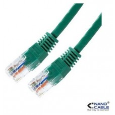 CABLE RED LATIGUILLO RJ45 CAT.5E UTP AWG24 VERDE 0.5 M