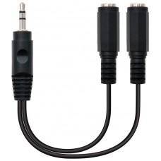 Nanocable - Cable duplicador audio minijack de 15cm