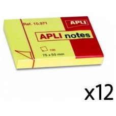 NOTAS ADHESIVAS APLI 50X75 PACK12 AMA