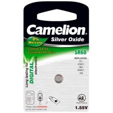 Boton Oxido plata SR60W 1.55V 0% Mercurio (1 pcs) Camelion (Espera 2 dias)