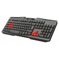 Trust Ziva ES teclado USB QWERTY Español Negro, Rojo (Espera 4 dias)