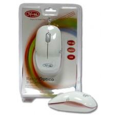 MOUSE OPTICO USB 3FREE MCM101/WP DISENO BLANCO ROSA