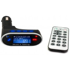 Reproductor MP3 USB/MicroSD + Transmisor FM Coche (Espera 2 dias)