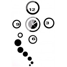 Reloj Decorativo de Pared Adhesivo Negro (Espera 2 dias)