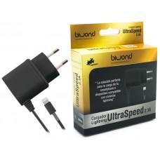 Cargador UltraSpeed Lightning iPhone/iPad Negro Biwond (Espera 2 dias)