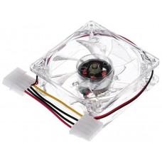 Ventilador 8cm IDE 12V Transparente+Luz Interna (Espera 2 dias)