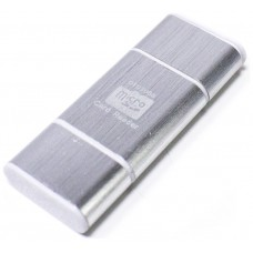 Lector OTG USB y Micro USB Plateado (Espera 2 dias)