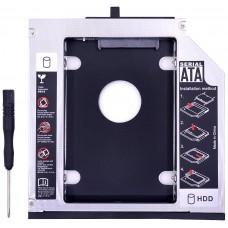 SATA Aluminio 3.0 HDD Caddy 9.5mm (Espera 2 dias)