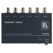 Kramer Electronics 105VB amplificador de línea de video 400 MHz Negro (Espera 4 dias)