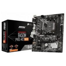 PLACA MSI B450M PRO-M2 MAX AMD AM4 DDR4 HDMI PCIE3.0 (Espera 4 dias)