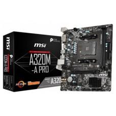 MSI A320M-A PRO placa base AMD A320 Zócalo AM4 micro ATX (Espera 4 dias)