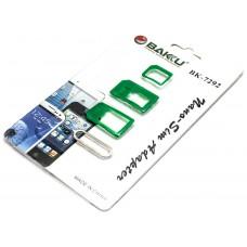 Adaptadores Sim / Micro Sim / Nano Sim BAKU-7292 (Espera 2 dias)
