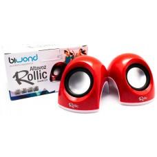 Altavoz Rollic Sound 2.0 Rojo Biwond (Espera 2 dias)