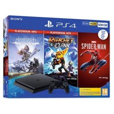 CONSOLA SONY PS4 500GB + HONOR + R&C + SPIDERMAN