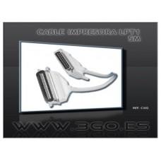 CABLE 3GO IMPRESORA 5M LPT (CENTRONICS) (Espera 4 dias)