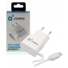 Cargador de Corriente MICRO USB 2.1A CROMAD Blanco (Espera 2 dias)