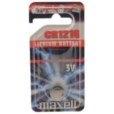 Maxell 11238800 pila doméstica Batería de un solo uso CR1216 Lithium-Manganese Dioxide (LiMnO2) (Espera 4 dias)