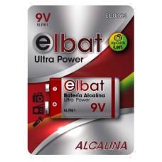 BLISTER 1 PC Pila Alcalina 6LR61/9V ELBAT (Espera 2 dias)