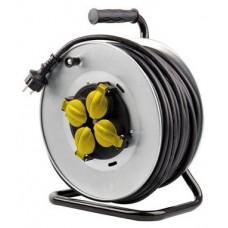 Enrollador de Cable PRO 40 Metros Cable 3X2.5MM Tambor Fijo ELBAT (Espera 2 dias)