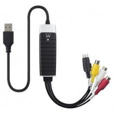 CAPTURADORA DE VIDEO EWENT EW3706 USB2.0 RCA/SVHS (Espera 4 dias)