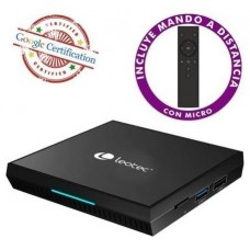 ANDROID TV BOX GCX2 216 4K QUADCORE (16+2 GB) CERTIFICADO GOOGLE LEOTEC (Espera 4 dias)