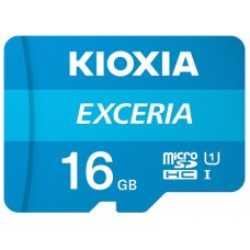 MICROSD KIOXIA 16GB EXCERIA UHS-1 C10 R100 ADAPTADOR (Espera 4 dias)