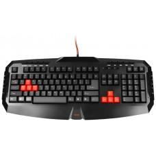 Mars Gaming MK1 teclado USB Inglés de EE. UU. Negro, Rojo (Espera 4 dias)