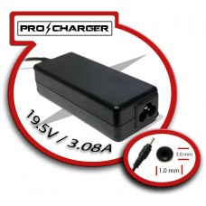 Carg. Ultrabook 19.5V/3.08A 3.0mm x 1.0mm 60w Pro Charger (Espera 2 dias)