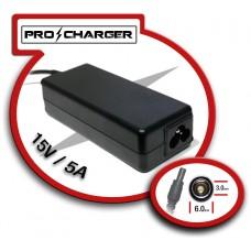 Carg. 15V/5A 6.0mm x 3.0 mm 75w Pro Charger (Espera 2 dias)