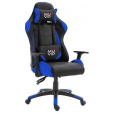 Silla Gaming GM2000 Negro / Azul MUVIP (Espera 2 dias)