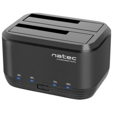 DOCKING STATION NATEC KANGAROO DUAL USB 3.0 SATA NEGRA