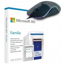 PROMO MICROSOFT OFFICE 365 FAMILY 6PC + RATON M90 (Espera 4 dias)