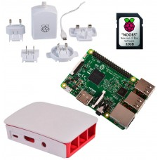 KIT RASPBERRY PI 3 MODELO B+ / MICROSD 32GB NOOBS / F.ALIM. BLANCA / CAJA ROJA-BLANCA (RB-KIT-1032) (Espera 4 dias)
