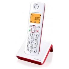 Alcatel S250 Teléfono DECT Rojo, Blanco Identificador de llamadas (Espera 4 dias)