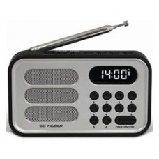RADIO DIGITAL HANDY MINI PLATA SCHNEIDER (Espera 4 dias)